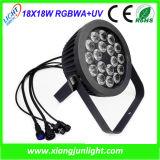 18PCS 18W Outdoor LED Wash PAR Light Rgbwauv