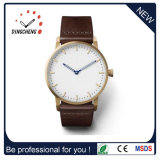 Classical Fashion Design Japan Movt Quartz Watch with Leather Strap (DC-1439)