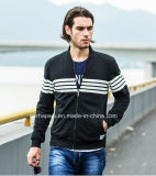 Cool Mens Cotton Jacket with White Stripe Printing