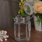 Wholesale Square Clear Glass Jar Food Storage Container