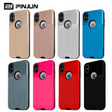 2 In1 Hard Armor Case Brushed Back Cover for iPhone X