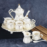 Ceramic Black Coffee Set with Milk Cup and Suger Cup