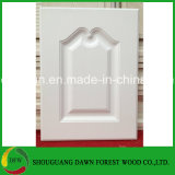 White Color PVC Film Kitchen Cabinet Door