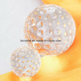 Crystal Glass Golf Shape Clear Ball for Decoration