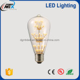 Unique Creative Design Decorative Light Bulbs Warm Yellow 2200K 3W