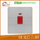 Stainless Steel Material 32A Water Heater Wall Switch