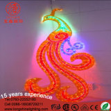 Clear PVC Cable Peacock IP65 IP44 White Motif Holiday Light with Ce RoHS