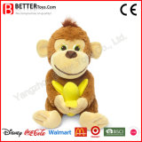 Plush Toy Stuffed Monkey Hold Banana for Baby Kids