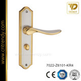 New European Style Privacy Door Lever Handle on Backplate