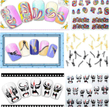 Colorful Zipper Water Transfer Nail Art Stickers Nail Sticker