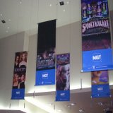 Cheap High Quality Advertising Trade Show Hanging Backlit/Frontlit Fabric Banner Printing