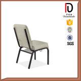 Brown Fabric Cushion Steel Leg Church Chair Br-J043