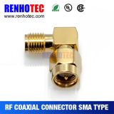 Right Angle Rpsma Male to Rpsma Famale Conector Adapter