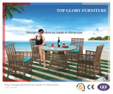 Modern Leisure Outdoor Furniture Rattan Garden Wicker Dining Table and Chairs (TG-1303)