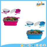 Square Shape Foldable Silicone Lunch Box