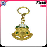 Free Design Silver Plated 3D Enameled Metal Keychain for Bag