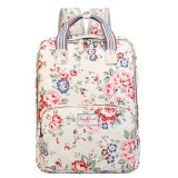 Waterproof PVC Canvas Floral Patterns Lady Backpack Bag (99151)