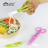 "2"" Ceramic Baby Food Scissors with Sheath and Plastic Case"