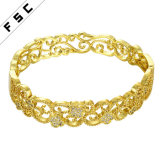 Hot Sale Charm Jewelry Gold Plated CZ Diamond Female Bracelet