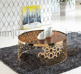 Home Modern Furniture Rose Gold Coffee Table (CT098L#)