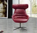 China Good Price Leather Leisure Chair with Iron Base (LCS-019)