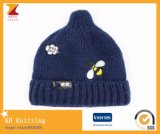 Childlike Warm Hat with Cute Embroidery