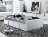 2015 Most Popular Tempered Glass Modern Coffee Table (CJ-163A)