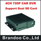 4CH 2 SD Card Vehcile DVR, Dual SD Card Vehicle Mobile DVR