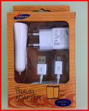 3in1 Mobile Wall USB Charger for Samsung Glaxy Ss4/5