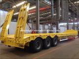 Low-Bed 50ton Semi-Trailer Truck for Axle 3 PCS