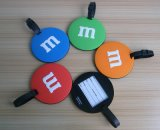 Custom 3D PVC Round Chocolatepromotional Luggage Tags