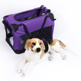 Fashion Foldable Purple Fabric Pet Travel Crate