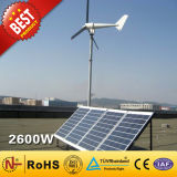 2KW+600W Wind Turbine and Solar Power Hybrid System for Home Use (2.6KW)