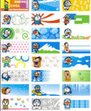 Xiao Xiong Doraemon Cartoons Name Stickers