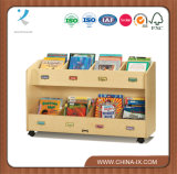 Childrens Book Storage Cart with Front-Facing Label Holders