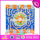 New Products Develop Intelligence Children Toy Magnetic Wooden Maze Ball W11h016