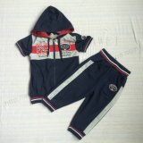 French Terry Boy Sport Body Suits with Zipper in Kids Clothes Sq-6236