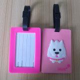 Custom Lovey Cat Logo Cute Soft PVC Luggage Tag