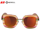 Colorful Lady Bamboo Frame Sunglasses