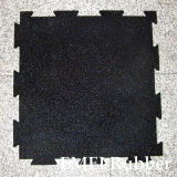 Interlocking Rubber Gym Flooring, Fitness Center Interlocking Rubber Flooring
