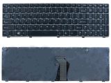 Laptop Keyboard for Lenovo Ideapad Z560 Z560A Z565 Z565A G570 G575 Series Grey Frame Us, UK, Br Layout