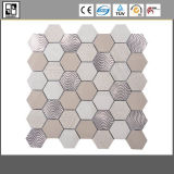 Hexagon Marble Mosaic Mix with Metal