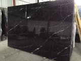 China Nero Marquina, Negro Bilbao, Black Markina Floor Tiles