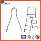 Swimming Pool Stainless Steel Double Safety Step Ladders with Handrail