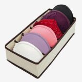 Foldable Non-Woven Fabric Underwear Panty Socks Storage Box Case Organizer