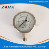 Oil Filled Stainless Steel Pressure Gauge with Double Scale