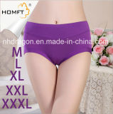 Stylish Mention Hip MID-Rised Bamboo Fiber Solid Color Young Girls Underwear Ladies Lingerie Panty