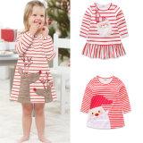 Toddler Kids Baby Girls Santa Striped Princess Dress, Baby Jumsuit, Christmas Clothes