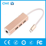 Type-C 3.1 Male to RJ45+USB 3.0 Female* 3 Hub