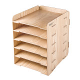 Wooden Color 6 Layers DIY Wooden Office Organizer